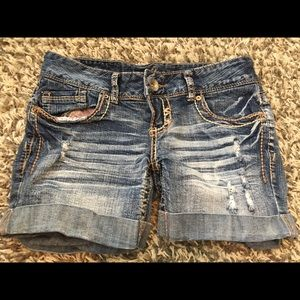 Amethyst Blue Jean Shorts